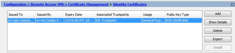 Cisco Asa Export Certificate