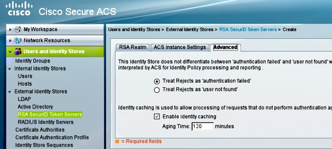 RSA Token Server and SDI Protocol Usage for ASA and ACS - Cisco