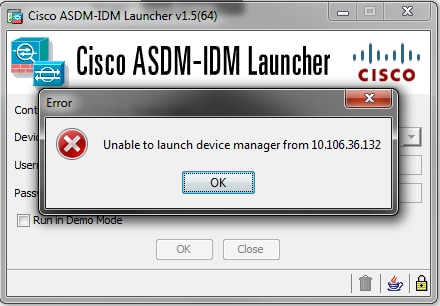 ASA Connection Problems to the Cisco Adaptive Security