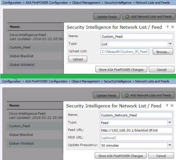 Configure IP Blacklisting while Using Cisco Security