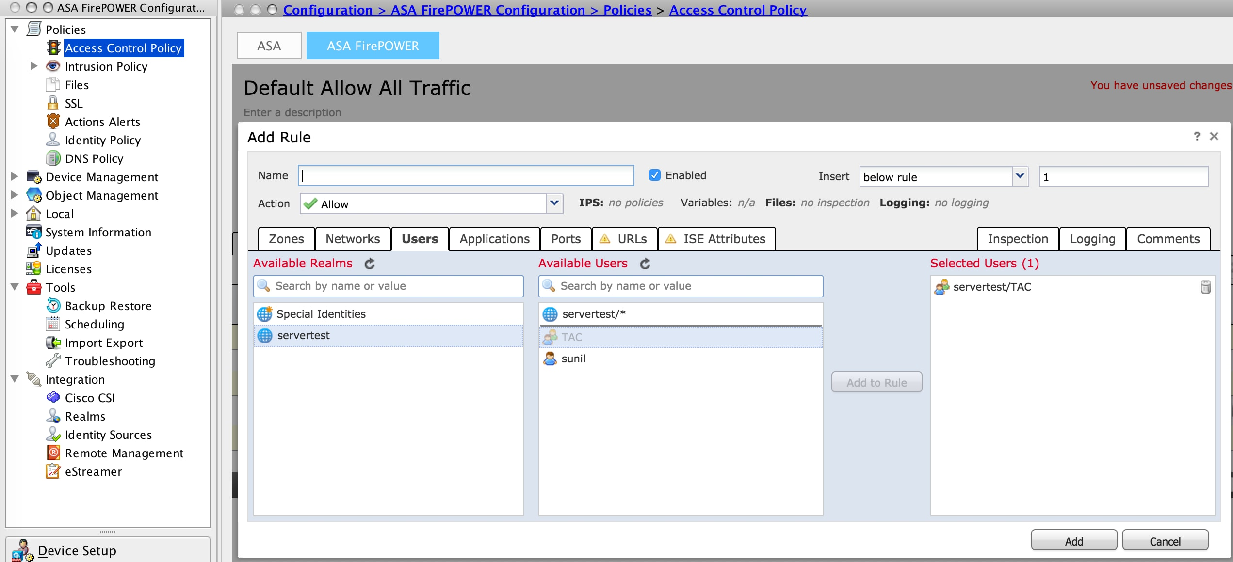 Configure Active Directory Integration with ASDM for Single