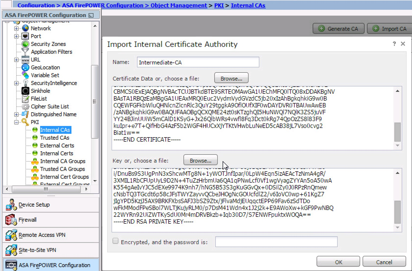 Configure the SSL decryption on FirePOWER Module using ASDM (On-Box