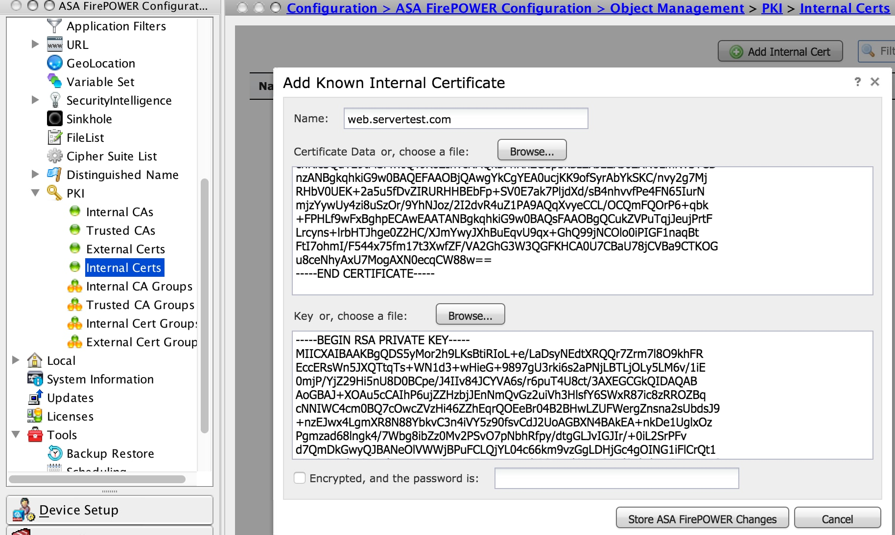 Configure The Ssl Decryption On Firepower Module Using Asdm On Box