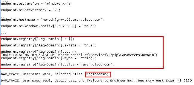 Dap Advanced Functions Configuration Example  Cisco