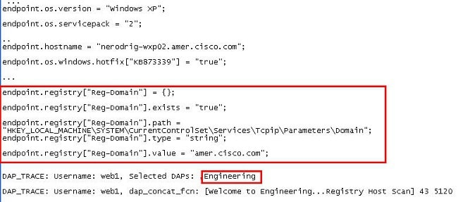 Dap Advanced Functions Configuration Example - Cisco