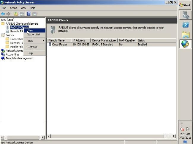 ASA VPN User Authentication against Windows 2008 NPS Server