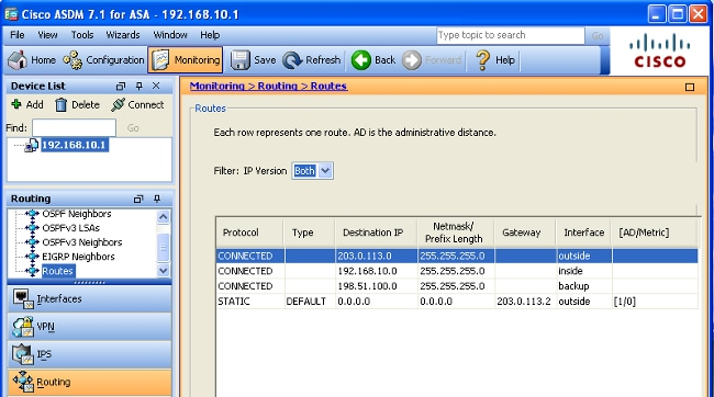 Configure the ASA for Redundant or Backup ISP Links - Cisco