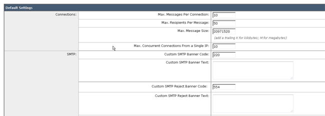 Which custom SMTP banner codes can be configured on the Cisco Email