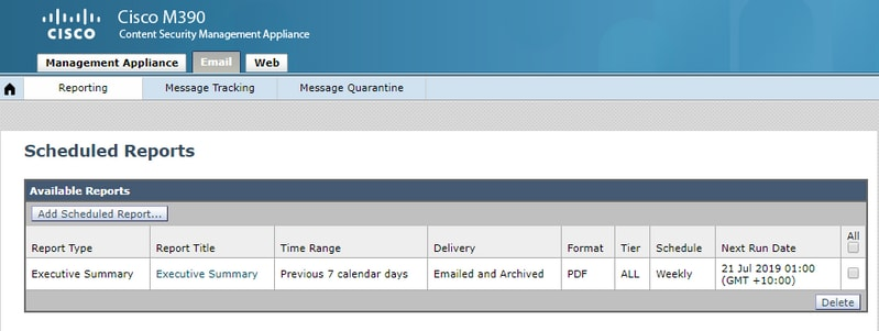 How do I verify if my scheduled reports are being delivered