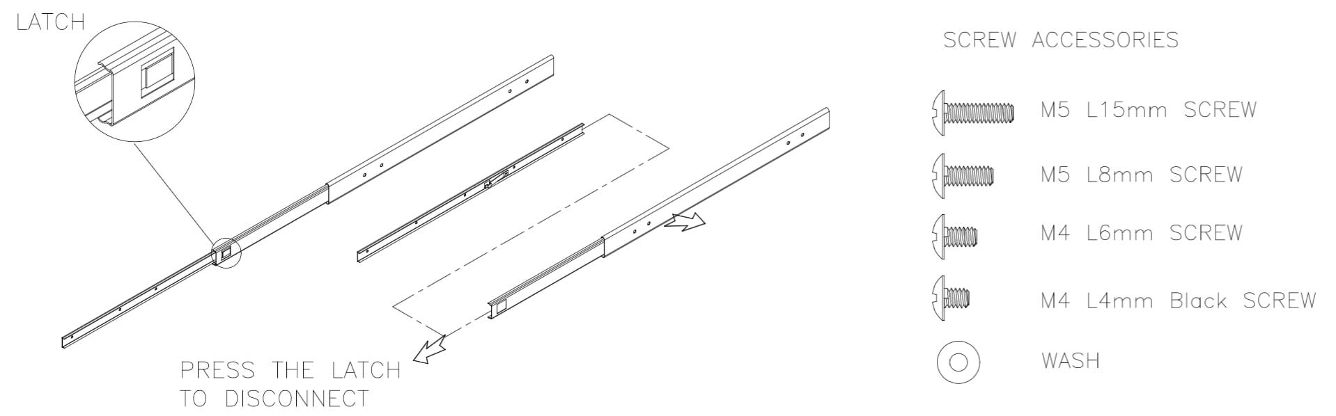 Firepower 7000 Series Appliance Rail Kit Installation
