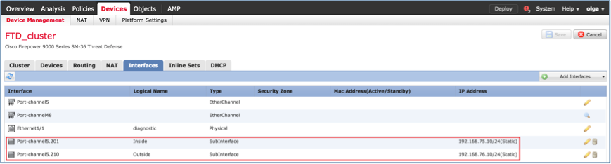 Configure FTD Clustering on FP9300 (intra-chassis) - Cisco