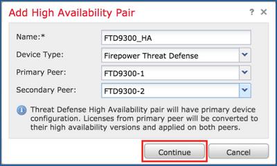 Configure FTD High Availability on Firepower Appliances - Cisco