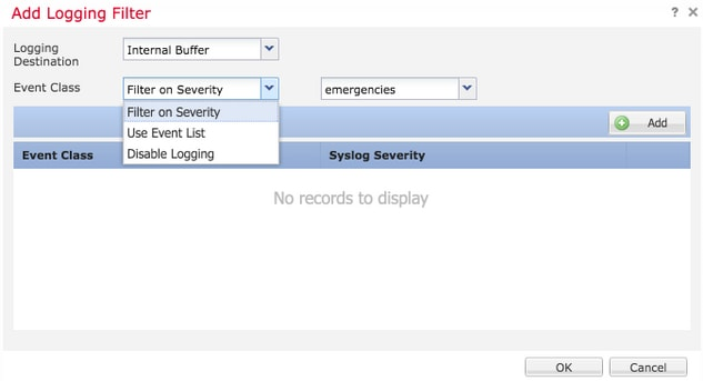 Configure Logging on FTD via FMC - Cisco