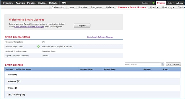 Step 3 On FMC First Create The Access Control Policy That Will Be Used By FTD Navigate To Policies And Select New