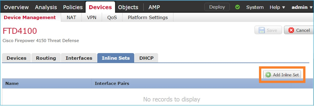 Configure FTD Interfaces in Inline-Pair Mode - Cisco
