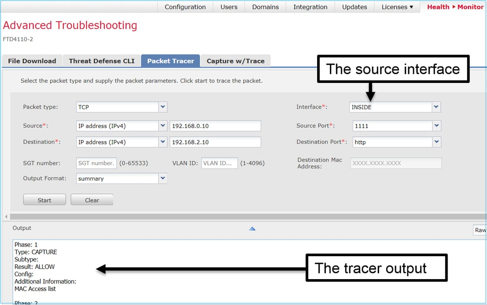 Work with Firepower Threat Defense Captures and Packet Tracer - Cisco