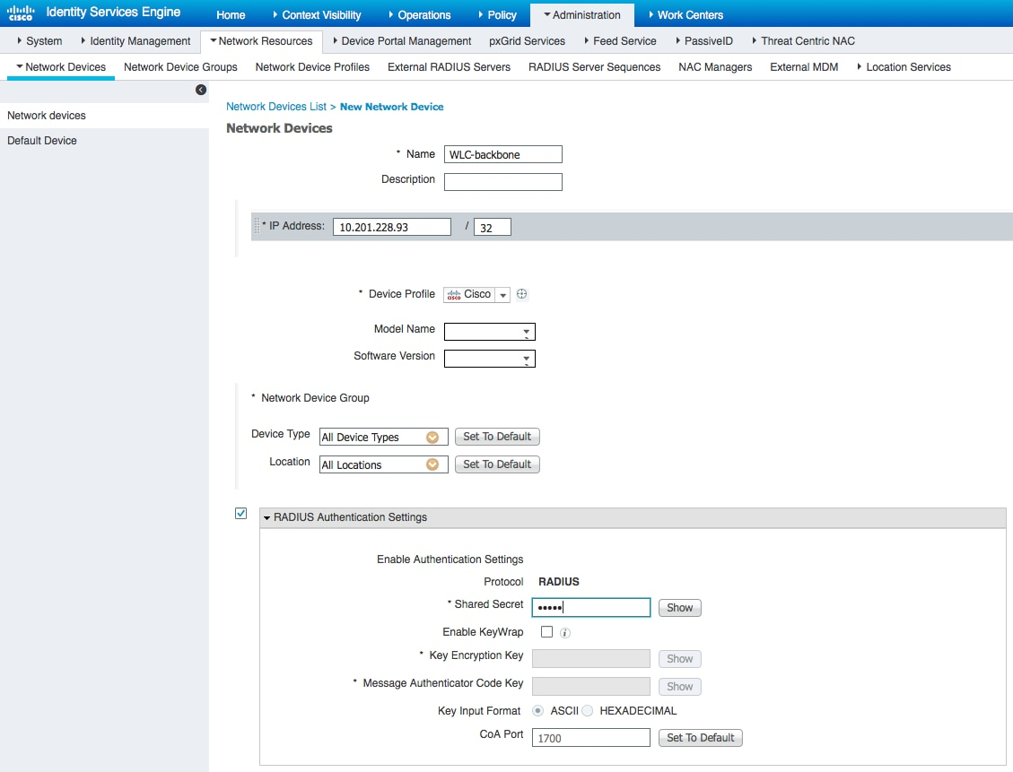 Configure Ise 21 Profiling Services Based On Ad Probe Cisco Wireless Lan Network Diagram Add Access Device