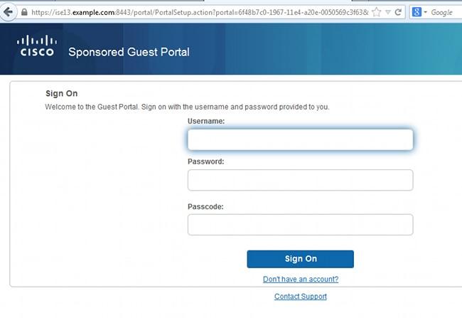 ISE Version 1 3 Self Registered Guest Portal Configuration