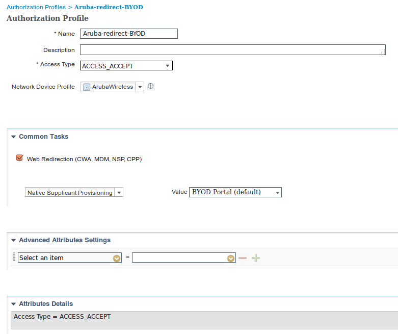 Configure ISE 2 0 3rd Party Integration with Aruba Wireless