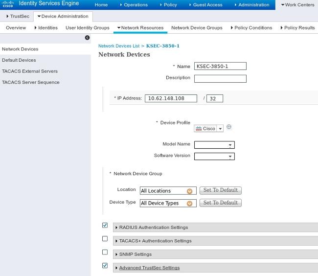 ISE 2.0 TrustSec SXP Listener und Lautsprecher konfigurieren - Cisco