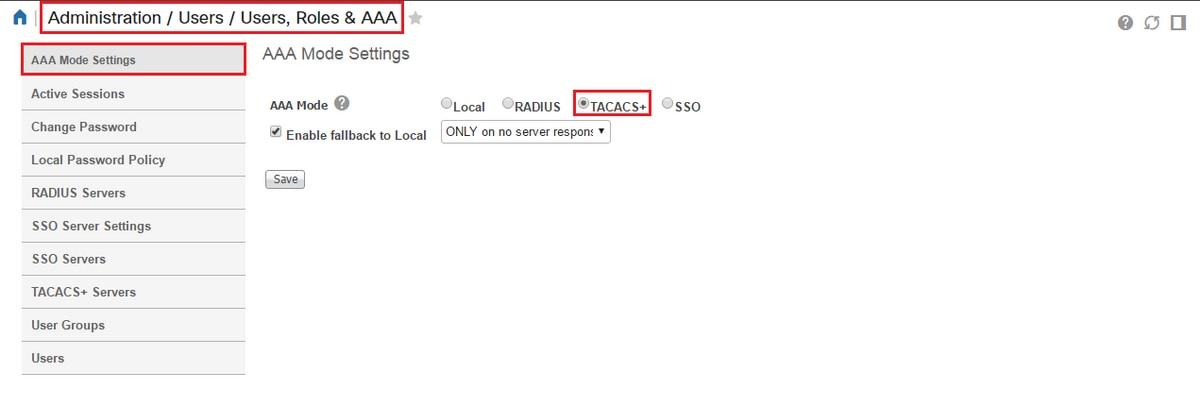 Configure Prime 3 1 TACACS authentication against ISE 2 x