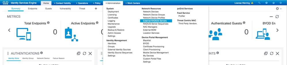 Configure External RADIUS Servers on ISE - Cisco