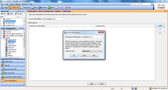 ASA Syslog Configuration Example - Cisco