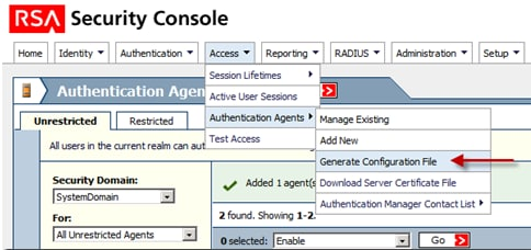 Cisco ACS 5 X Integration with RSA SecurID Token Server - Cisco