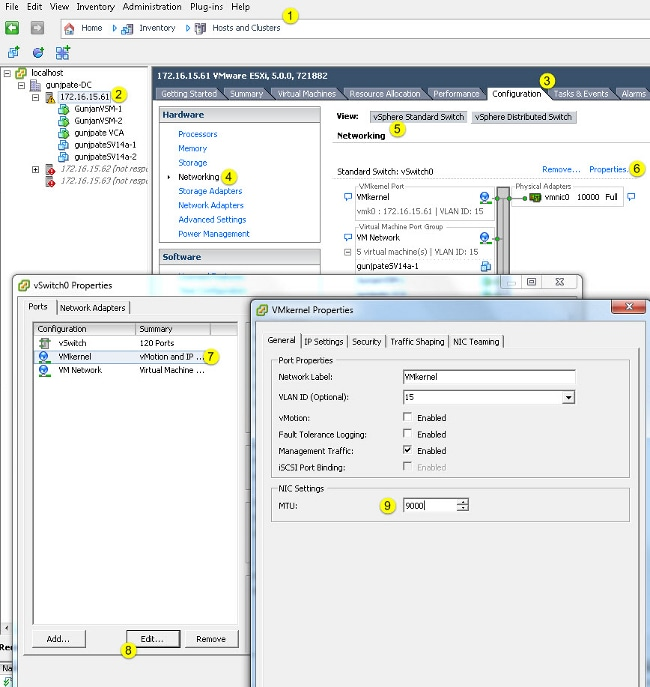 UCS with VMware ESXi End-to-End Jumbo MTU Configuration Example - Cisco