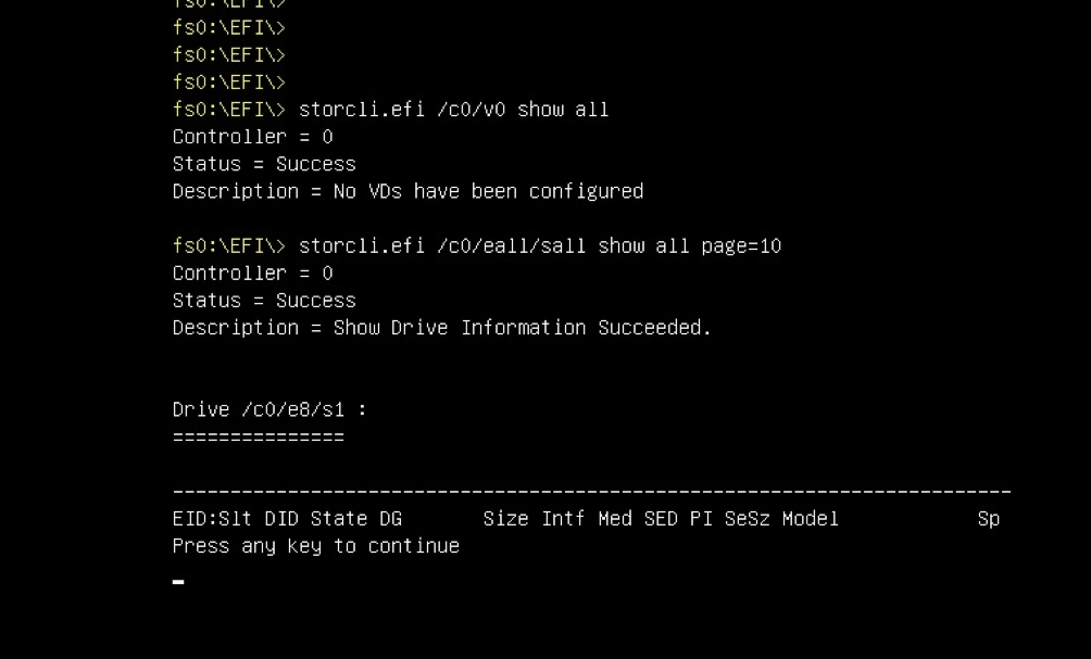 Tech Note on How to Run LSI StorCli from EFI Shell using KVM - Cisco