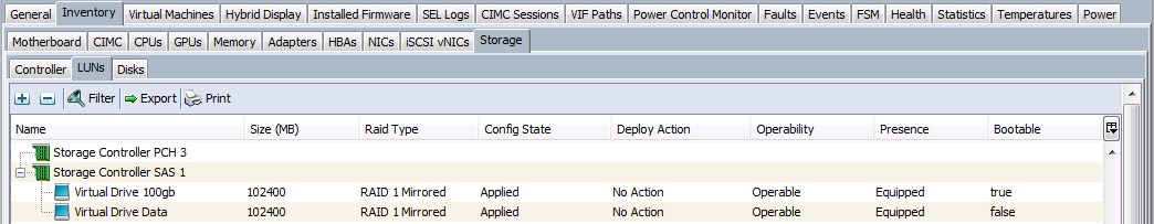 Configure Storage Profiles for C Series Integrated Servers
