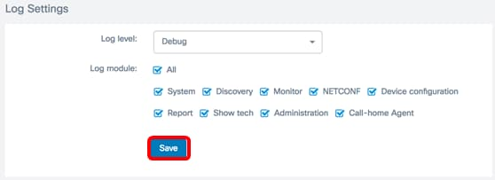 Manage Log Settings on the FindIT Network Management - Cisco