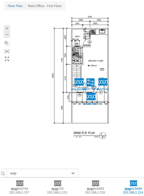 manage floor plans and devices using findit network probe cisco rh cisco com