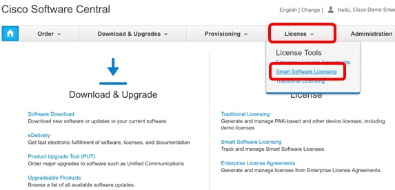 Manage Cisco Smart Software Licensing on the FindIT Network Manager