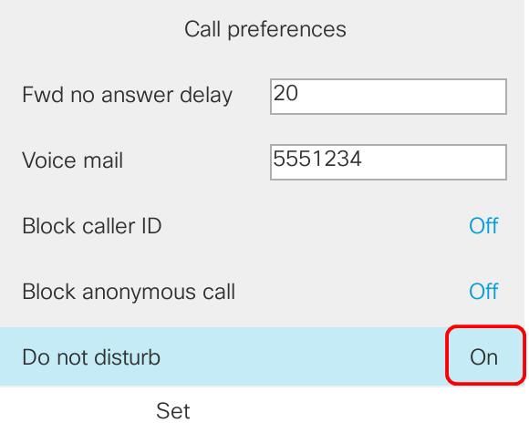 Configure Do Not Disturb (DND) Feature on the Cisco IP Phone