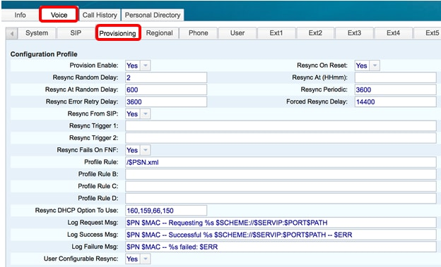 Configure New Profile on the Cisco IP Phone 7800 Series or 8800