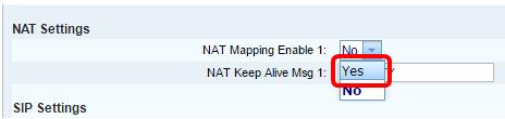 Configure Network Address Translation (NAT) Settings on the