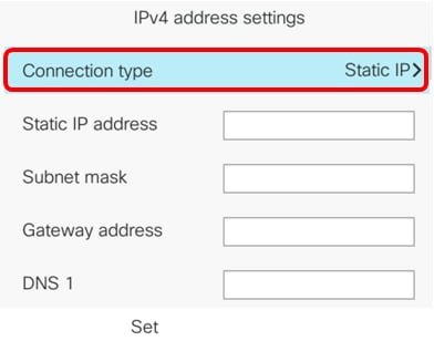 Configure Static Internet Protocol (IP) Address Settings on