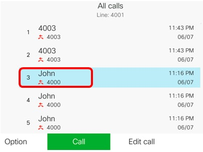 Manage Recent Calls List on a Cisco IP Phone 7800 or 8800