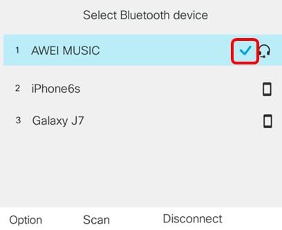 Configure a Bluetooth Device on a Cisco IP Phone 8800 Series
