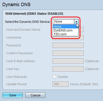 Dynamic Domain Name System (DDNS) Configuration on the RV120W and