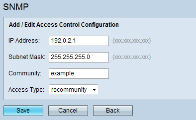 Simple Network Management Protocol (SNMP) Configuration on