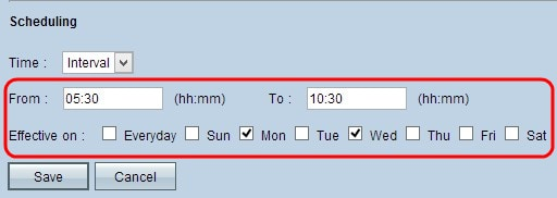 Schedule Access Rules on RV016, RV042, RV042G and RV082 VPN ...