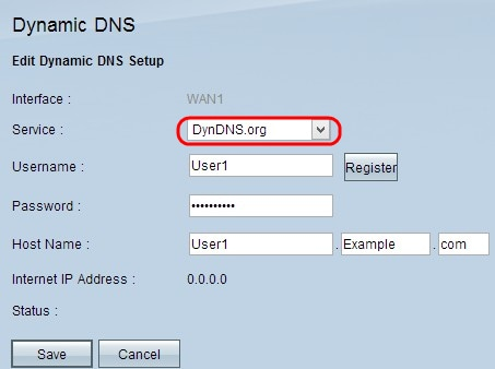 Configuration on Gateway-to-Gateway VPN tunnel using DynDNS on one