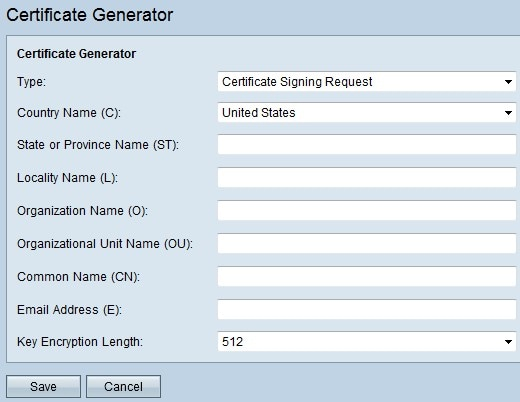 Generate Certificates on RV320 and RV325 VPN Routers - Cisco