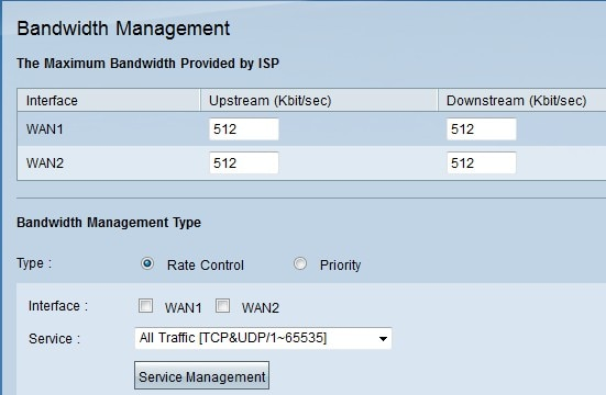 Bandwidth Management on RV016, RV042, RV042G, and RV082 VPN Routers