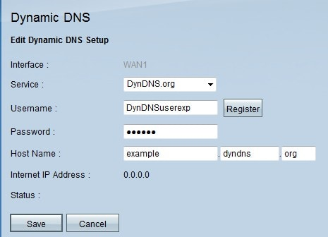 Dynamic DNS (DDNS) Configuration on the RV016, RV042, RV042G