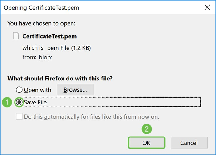 Certificate (Import/Export/Generate CSR) on the RV160 and RV260
