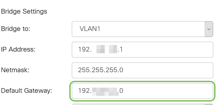 Configure Bridge Settings on the RV34x Router - Cisco
