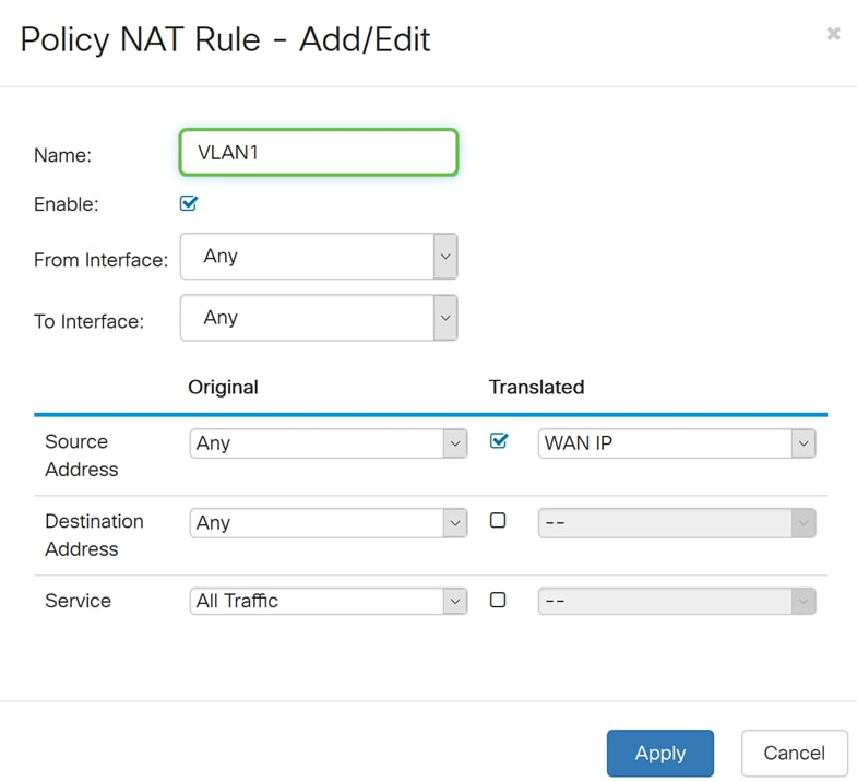 Configuring Policy NAT on the RV160 and RV260 - Cisco